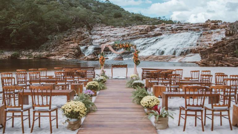Os tipos de locais para casamento ao ar livre