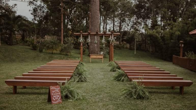 Diferentes layouts para cerimônia ao ar livre